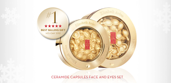 #1 BEST SELLING GIFT HOLIDAY 2012. CERAMIDE CAPSULES FACE AND EYES SET.