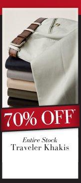 70% OFF* Traveler Khakis