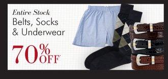 Belts, Socks & Underwear - 70% OFF*