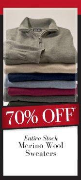 70% OFF* Merino Wool Sweaters