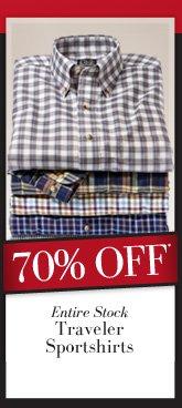 70% OFF* Traveler Sportshirts
