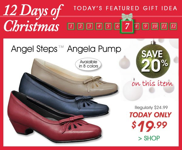 Today Only! Save 20% on Angel Steps™ Angela Pump - Only $19.99