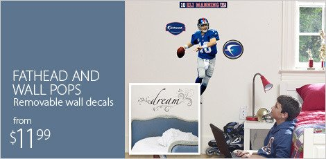 Fathead & Wall Pops: removable wall decals