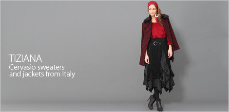 tiziana Cervasio sweaters and jackets from italy
