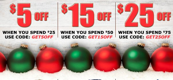 Save up to $25 Off
