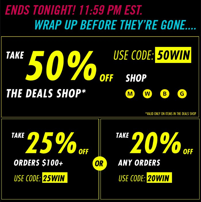 DrJays.com Take 50% Off The Deals Shop With Promo Code.