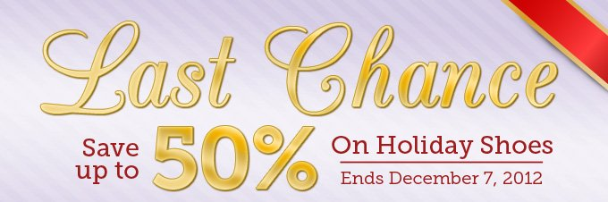 Last Chance - Save up to 50% off