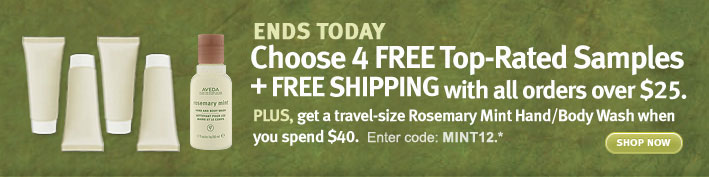 Choose 4 FREE Top-Rated Samples + FREE SHIPPING with all orders over $25. shop now.