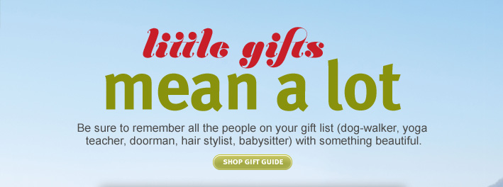 little gifts mean a lot. shop gift guide.