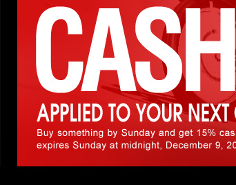 Hurry! Offer expires Sunday at midnight, December 9, 2012