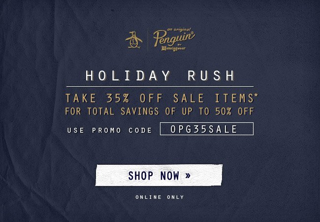 Holiday Rush - Save Up To 50% Off On Sale