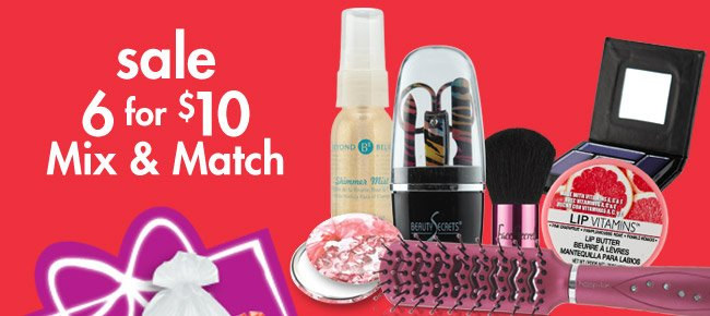 sale 6 for $10 Mix & Match