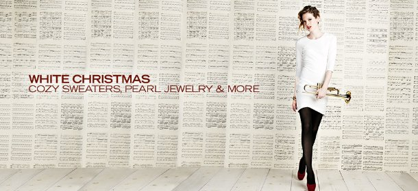 WHITE CHRISTMAS: COZY SWEATERS, PEARL JEWELRY & MORE, Event Ends December 10, 9:00 AM PT >