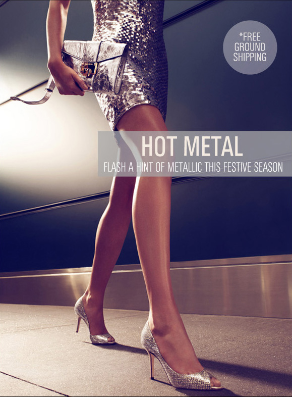 Hot metal - Flash a hint of metallic this festive season