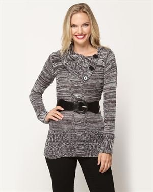 Rock Long Sleeve Belted Sweater