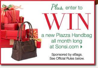WIN a New Piazza Handbag all month long