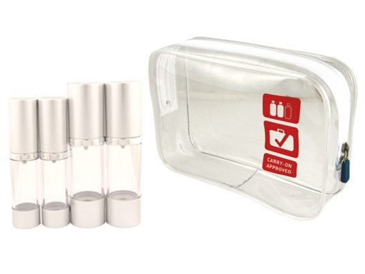 I prefer to pack smart and light. And this little bottle set will lighten your load, literally.