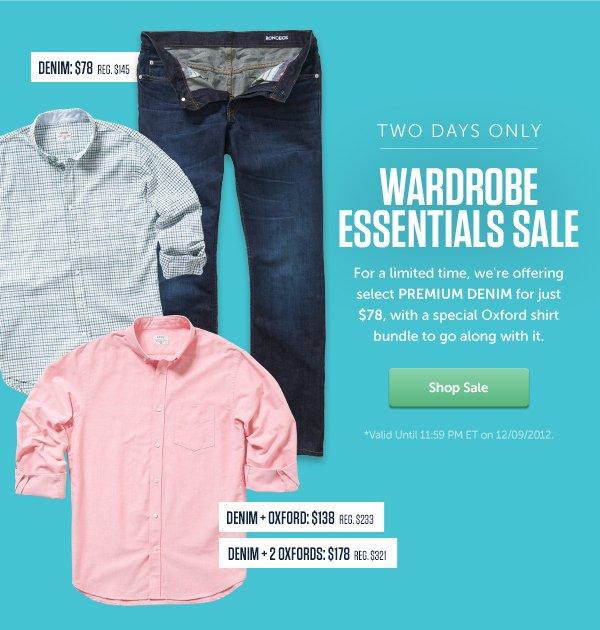 Two Days Only - Wardrobe Essentials Sale