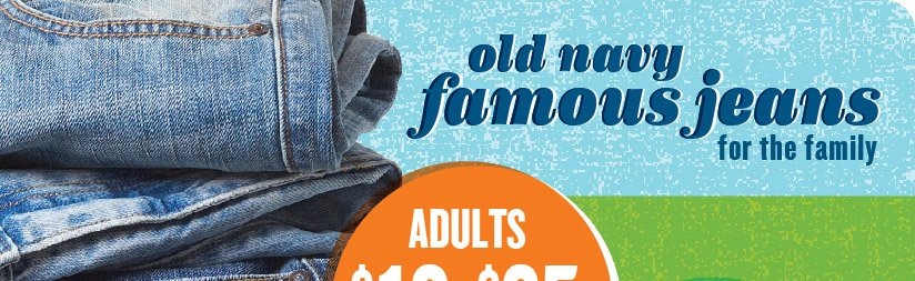 old navy famous jeans for the family