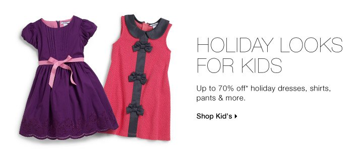 HOLIDAY LOOKS FOR KIDS