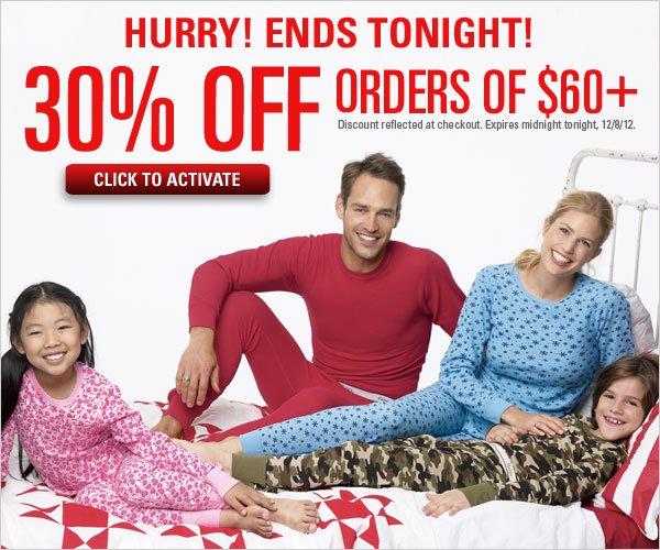 30% off orders $60+