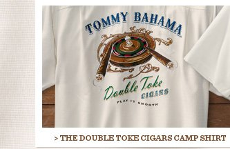 The Double Toke Cigars Camp Shirt