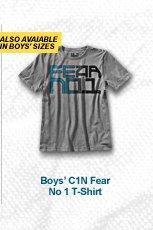 BOYS' C1N FEAR NO 1 T-SHIRT
