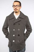 <b>SchottNYC</b><br />The 24oz Slim Fit Peacoat in Oxford Gray
