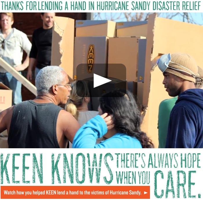 Hurricane Sandy Relief with KEEN