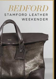 Bedford Stamford Leather Weekender