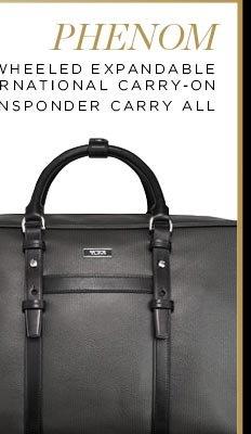 Phenom Transponder Leather Carry All