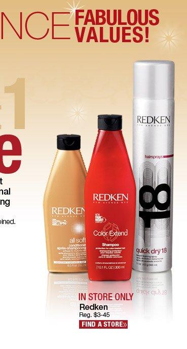 Buy 2 Get 1 FREE Redken