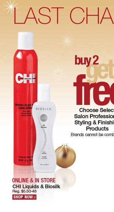 Buy 2 Get 1 FREE CHI Liquids and Biosilk