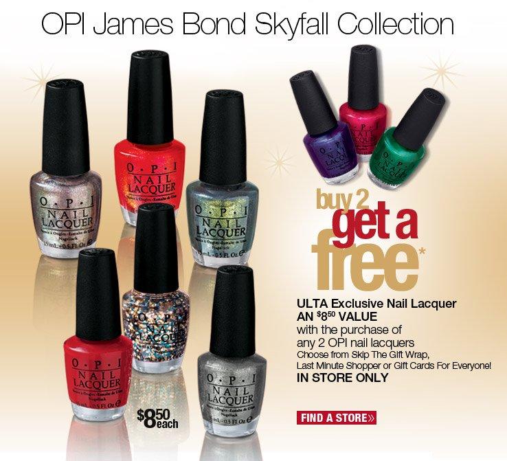 OPI James Bond Skyfall Collection