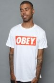 <b>Obey</b><br />The Obey Bar Logo Standard Issue Basic Tee in White