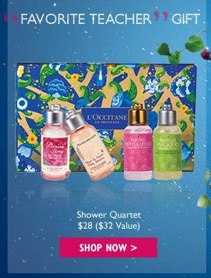 Favorite Teacher Gift Shower Quartet $28 ($30 Value)