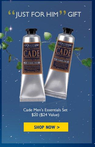 Just for Him Gift Cade Men's Essentials Set $20 ($24 Value)