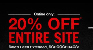 20% OFF ENTIRE SITE