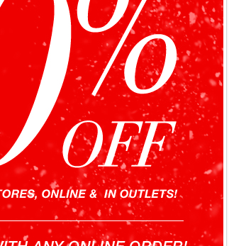 Everything 50% Off both In Stores and Online + Free Shipping.  Shop Now!