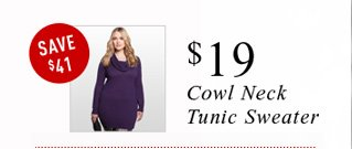 Cowl Neck Tunic Sweater