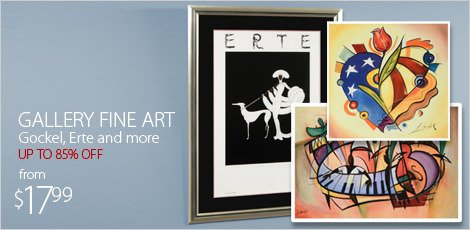 Gallery Fine Art, featuring Gockel, Erte and more