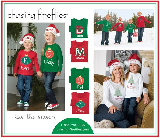 personalized holiday tees