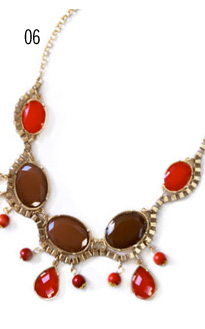 Scarlet Stone Necklace