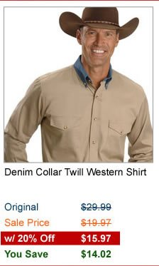 Denim Twill Shirt