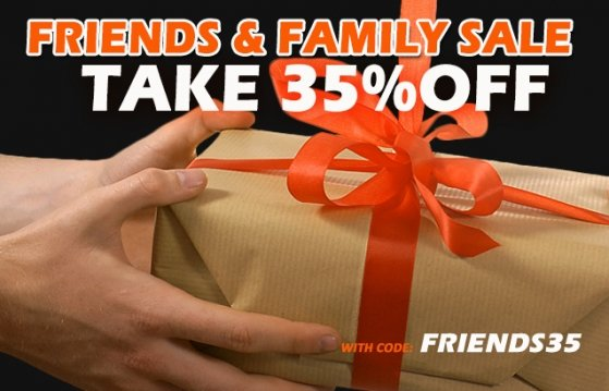 Friends + Family Sale - Get 35% Off