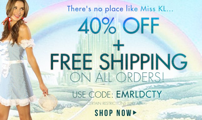 40% + Free Shipping on All Orders!