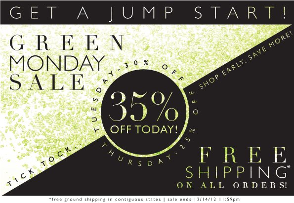 Green Monday Sale | 35% Off