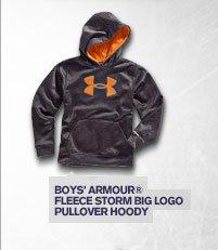 BOYS' ARMOUR ® FLEECE STORM BIG LOGO PULLOVER HOODY