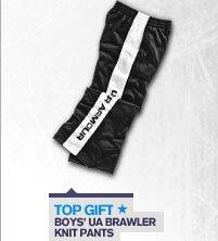 TOP GIFT - BOYS' UA BRAWLER KNIT PANTS