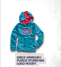 GIRLS' ARMOUR® FLEECE STORM BIG LOGO HOODY